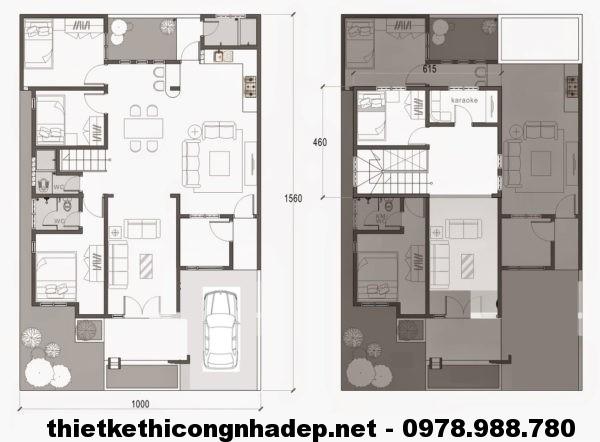 Nhà cấp 4 mái thái đẹp NDNC416