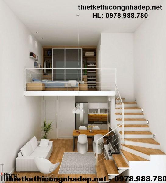 Thiết kế nhà cấp 4 diện tích 20m2 NDNC419