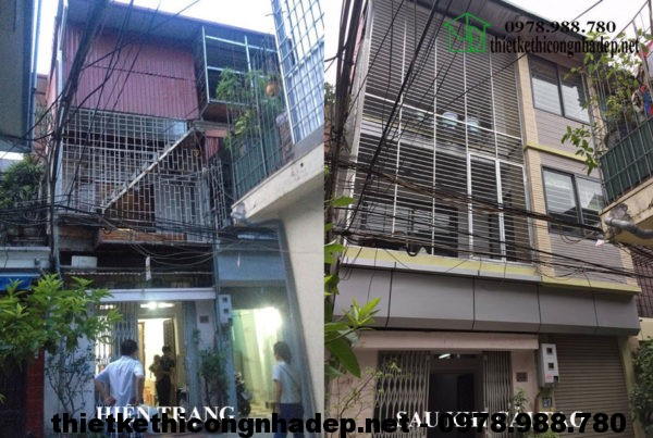 Thiết kế cải tạo nhà phố 3 tầng tại Kim Ngưu – Hà Nội NDNP3T5