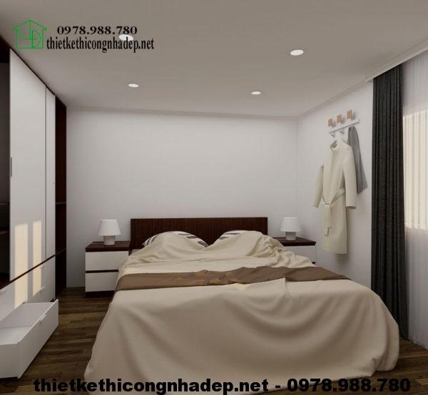 Nội thất phòng ngủ 2 chung cư mini NDNTCC2