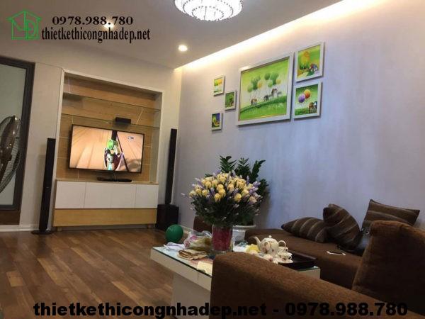Phòng khách nhà phố 3 tầng NDNP3T5