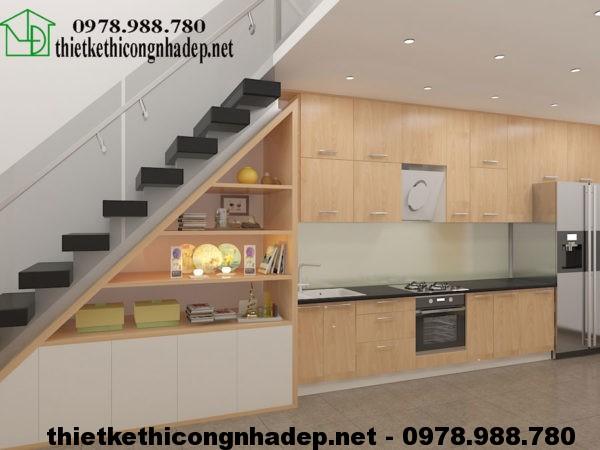 Phòng bếp nhà cấp 4 gác lửng 50m2 NDNC422