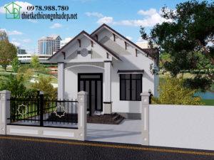 Thiết kế nhà cấp 4 mái thái, nhà cấp 4 mái thái 3 phòng ngủ NDNC422