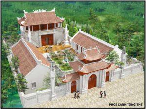 Thiết kế nhà thờ họ 2 tầng, mẫu nhà thờ họ đẹp NDNTH4