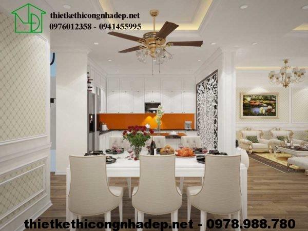 Phòng bếp biệt thự đẹp 3 tầng NDBT3T4