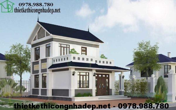Biệt thự 2 tầng mái thái NDBT2T14