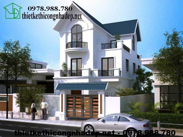 Thiết kế biệt thự vườn 3 tầng NDBT3T7