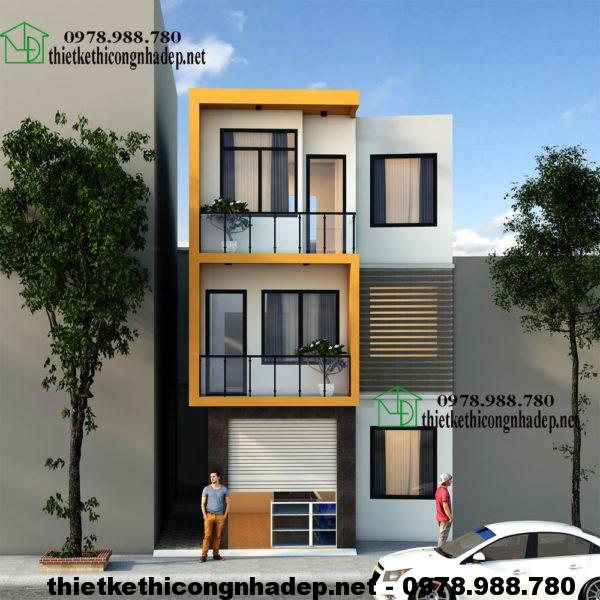 Mẫu nhà ống 3 tầng, thiết kế nhà đẹp 3 tầng NDNP3T7