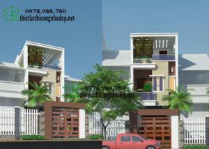 Mẫu nhà đẹp 3 tầng, mẫu nhà phố đẹp 3 tầng tại Lào Cai NDNP3T6