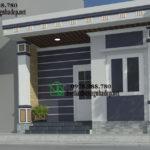 Nhà cấp 4 mái bằng, mẫu nhà 1.5 tầng đẹp NDNC427
