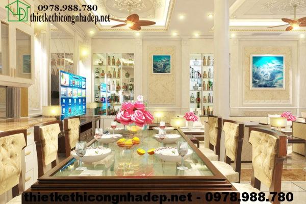 Phòng ăn biệt thự cổ điển NDBT4T1