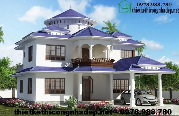 Thiết kế nhà đẹp 2 tầng NDBT2T17