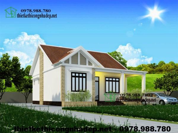 Biệt thự mini nhà vườn 1 tầng NDBT1T18