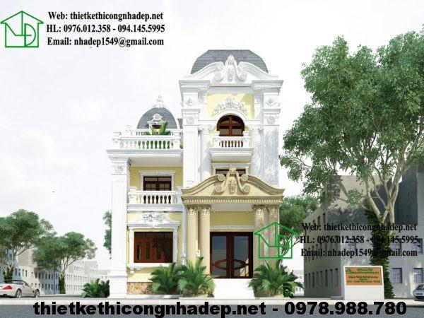 Mẫu nhà đẹp 3 tầng NDBTCDP2