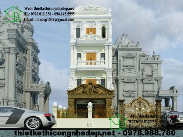 Nhà phố cổ điển pháp, thiết kế nhà phố cổ điển NDNP4T3