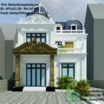 Biệt thự cổ điển 2 tầng, mẫu nhà biệt thự cổ điển NDBTCDP4