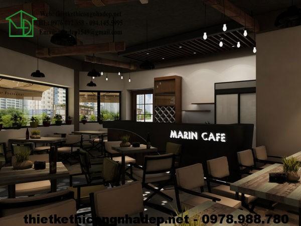 Thiết kế quán cafe giá rẻ NDCF4