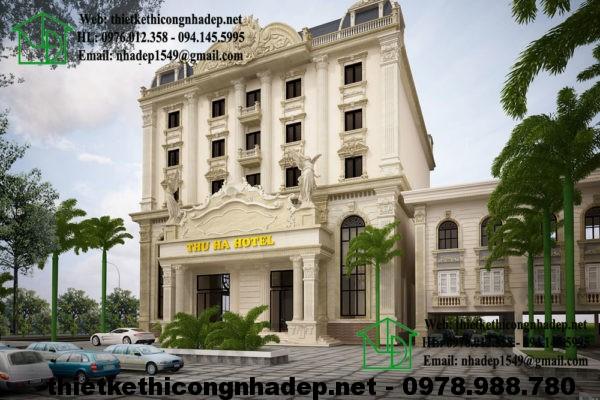 Thiết kế thi công khách sạn đẹp NDTKKS1