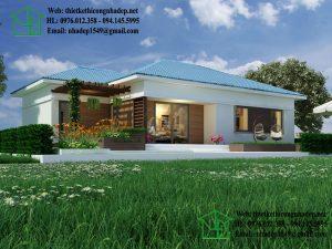 Biệt thự vườn 1 tầng mái thái tại Thái Nguyên NDBT1T21