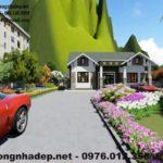Thiết kế biệt thự vườn 1 tầng mái thái tại Bắc Giang NDBT1T19