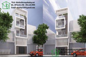Nhà phố có gác lửng, thiết kế nhà phố có gác lửng đẹp NDNP4T4