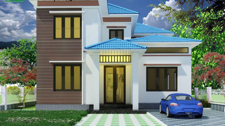 Thiết kế biệt thự đẹp 2 tầng, mẫu nhà biệt thự đẹp NDBT2T24