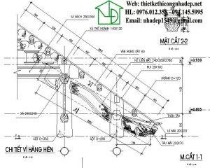 Tên gọi các cấu kiện nhà gỗ, quy cách kiến trúc cổ Việt Nam