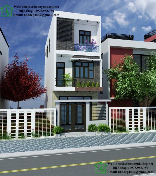 Thiết kế nhà phố đẹp 4.5x12m NDNP3T10