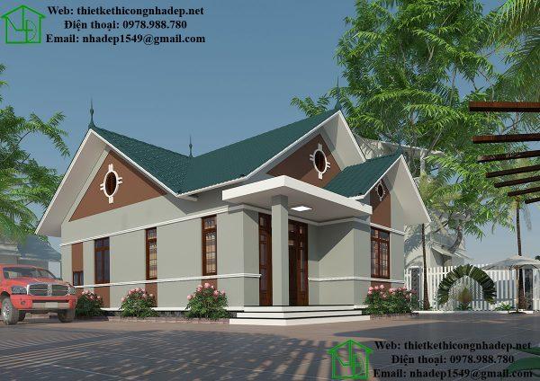 Biệt thự nhà vườn 1 tầng kiểu thái NDBT1T30