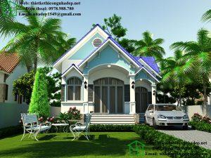 Mẫu biệt thự nhà vườn 1 tầng đẹp tại Kiến Xương giá 600 NDBT1T29