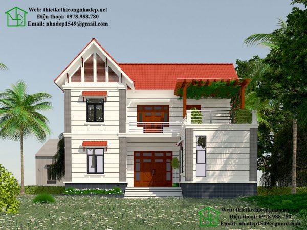 Nhà đẹp 2 tầng mái thái NDMN2T4