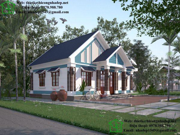 Thiết kế biệt thự 1 tầng đẹp, mẫu nhà biệt thự 1 tầng đẹp NDBT1T31
