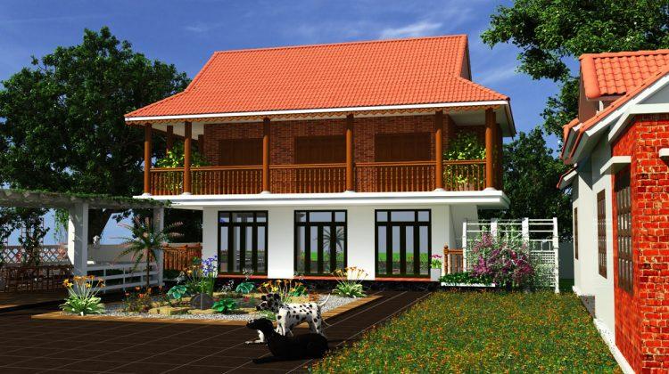 Thiết kế nhà sàn bê tông, mẫu thiết kế nhà sàn hiện đại NDNS1