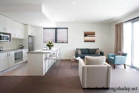 Tích hợp nội thất phòng khách và phòng ăn