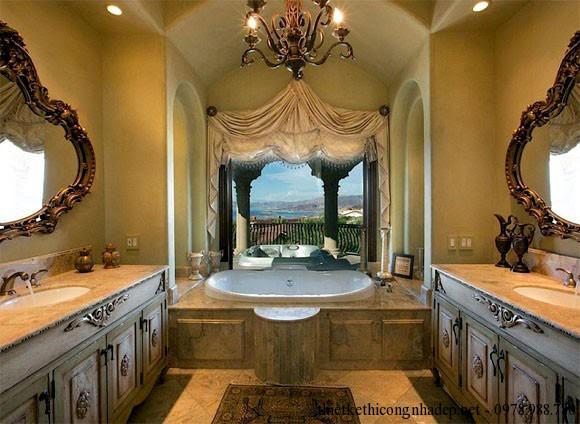 phòng tắm biệt thự rộng rãi
