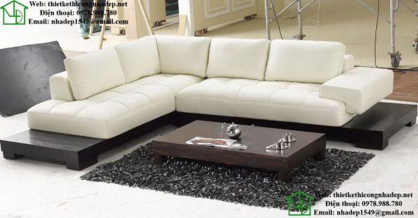 Sofa phao góc hình chữ L