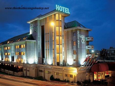 mẫu kiến trúc khách sạn tham khảo số 2