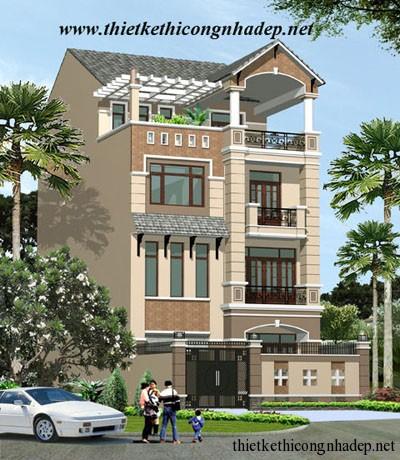 mẫu thiết kế nhà phố số 6