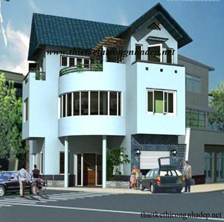 mẫu nhà phố 2.5 tầng