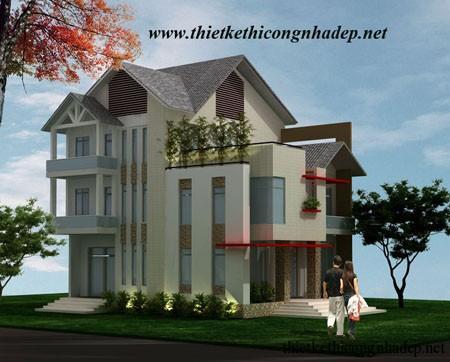 Thiết kế phối cảnh kiến trúc biệt thự đẹp