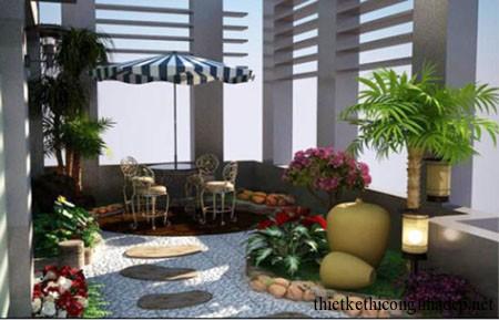 ý tưởng thiết kế sân vườn số 3