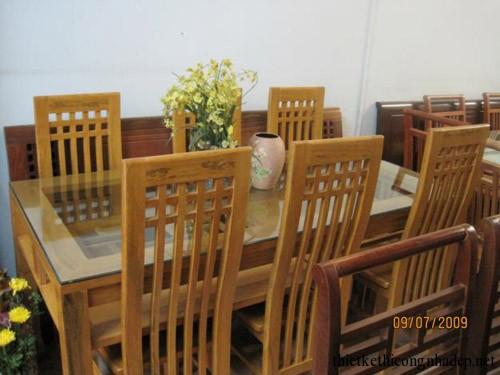 Bàn ghế ăn gỗ tự nhiên gỗ xoan đào