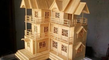 Mô hình thiết kế mẫu nhà nhỏ đẹp bằng giấy