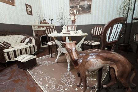Thiết kế nội thất nhà với chocolate