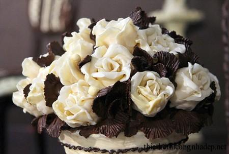 Bó hoa hồng được làm bằng chocolate