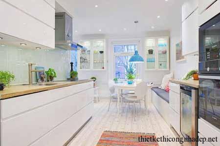 Phòng bếp cùng với phòng ăn