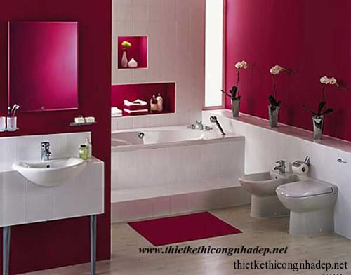 Mẫu thiết kế nội thất phòng tắm hiện đại số 13