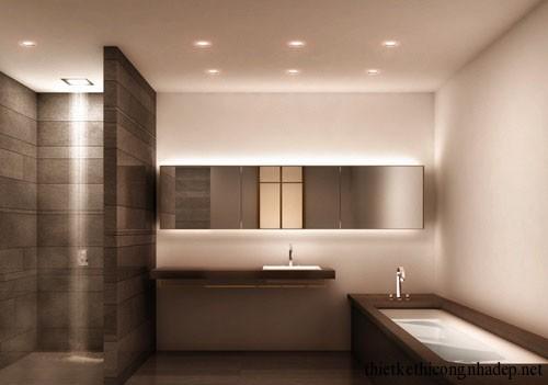 Mẫu thiết kế nội thất phòng tắm hiện đại số 1