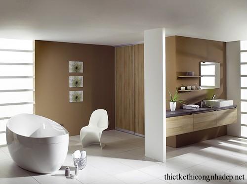 Mẫu thiết kế nội thất phòng tắm hiện đại số 8