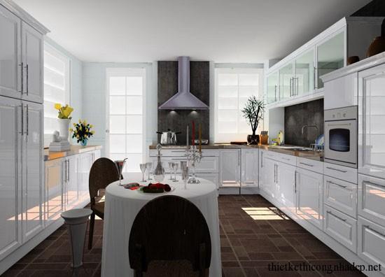 mẫu thiết kế phòng bếp số 1